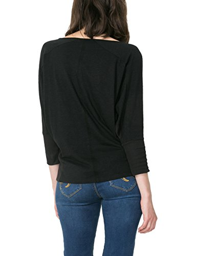 Desigual Ts_Prudencia, T-Shirt Femme Noir (NEGRO 2000)