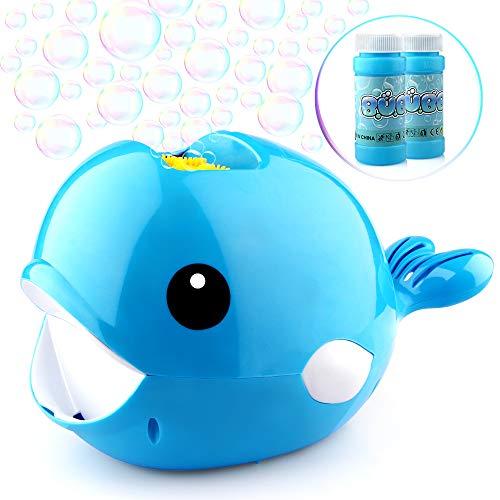 aschine mit 2 Flüssigkeit für Kinder Junge Mädchen Seifenblasen Spielzeug Automatische Bubble Machine Maker mit 3000+ Bubbles Pro Minute Outdoor Geschenk für Garten Party Hochzeit ()