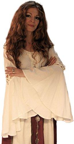 Unbekannt Dark Dreams Bluse Mittelalter Gothic Bluse Esmeralda, Größe:XL, Farbe:Natur