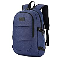 Anti Theft Backpack,Business Travel Laptop Backpack With RFID Signal Blocking Pocket USB Charging Port, Water-resistant Slim Backpack Fit 15.6 Inch Laptop Computer Work School Rucksack For Womens Mens