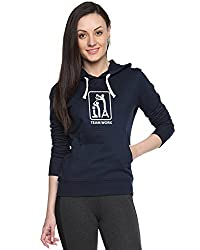 Campus Sutra Womens Printed Navy Blue Sweatshirt (AW15_H_W_TW_BU_XL)