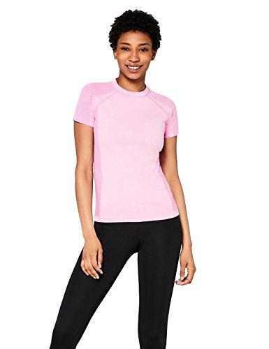 AURIQUE Camiseta Deportiva sin Costuras Mujer