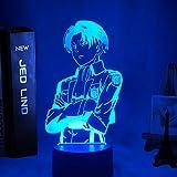 Lampada da tavolo in acrilico Anime Attack on Titan per Home Room Decor Light Cool Kid Child Gift Captain Levi Ackerman Figur