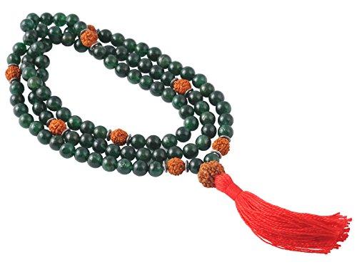 Mala 108 perles 8mm - Jade & Rudraksha