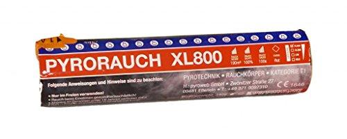 PYROWEB.DE Pyrorauch XL800 Rot - Rauchpatrone/Jumbo Rauch