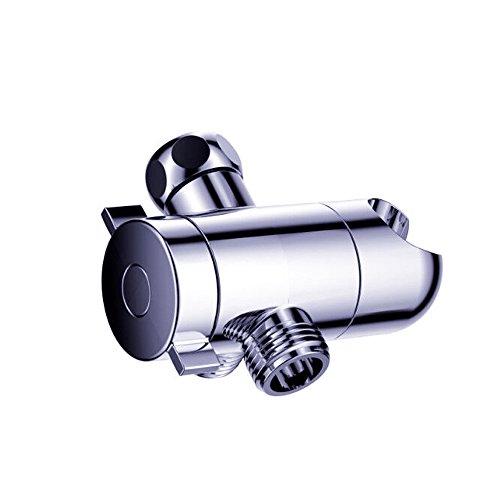 thanly Braccio doccia universale, Deviatore a 3vie con supporto doccia testa staffa di montaggio supporto in cromo lucido B