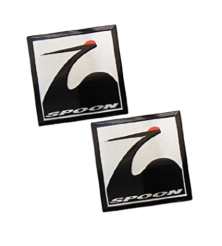 2 x (Pair/Set of 2) SPOON SPORTS SQUARE Emblem Badge Nameplate Decal Rare for Honda Acura Type R Type-r TYPE-S S GT Civic Integra Si CRZ CRX GSR Prelude Accord NSX RS LS GS CRV CR-V CRZ CR-Z TSX Element Fit S2000 JDM80 81 82 83 84 85 86 87 88 90 91 9293 94 95 96 97 98 00 01 02 03 04 05 06 07 08 09 10 11 12 13 1980 1981 1982 1983 1984 1985 1986 1987 1988 1989 1990 1991 1992 1993 1994 1995 1996 1997 1998 1999 20 2001 2002 2003 2004 2005 2006 2007 2008 2009 2010 2011 2012 2013