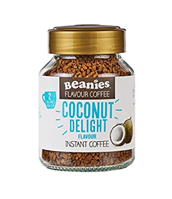 Beanies Coconut Delight Flavoured Instant Coffee 50 g (Pack of 6)