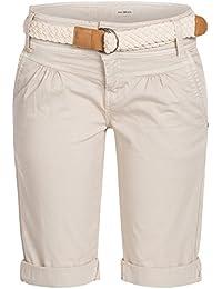 FRESH MADE Damen Cuba Chino Shorts Bermuda kurze Hose inkl. Gürtel D6053Z60080 Pastel XS S M L XL