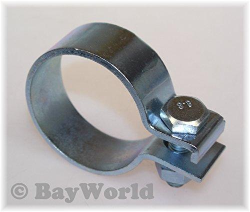 DIN Schelle 53,5mm Stahl verzinkt 2.10 Zoll Breitbandschelle Auspuffklemme