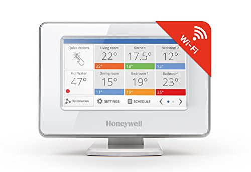Honeywell Evohome Wi-Fi Termostato Intelligente Multizona senza Fili-Gestibile Via App, Bianco