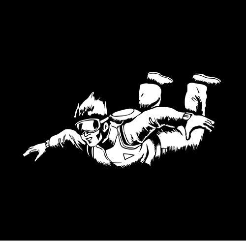 Autoaufkleber,Fallschirm 19x9cm PVC DIY Motorrad Auto Aufkleber Kunst Zubehör Kreative Spiel Stil Fenster Helm Aufkleber Benutzerdefinierte Geburtstagsgeschenk 5 Stücke