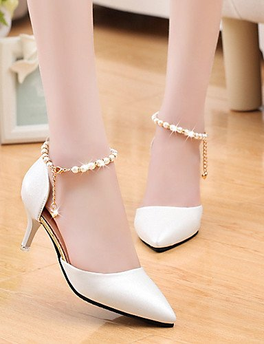 WSS 2016 Chaussures Femme-Mariage / Bureau & Travail / Habillé / Décontracté / Soirée & Evénement-Noir / Rose / Blanc-Talon Aiguille-Talons / Bout pink-us5 / eu35 / uk3 / cn34