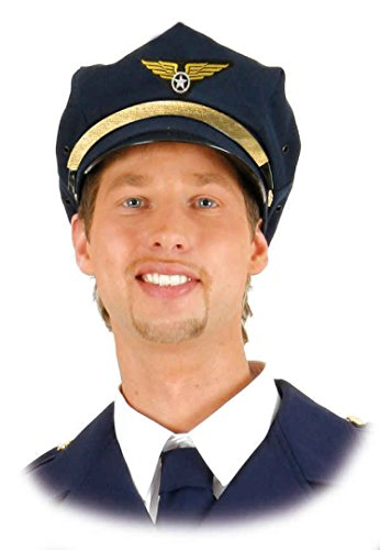 O23431 blau Mütze-Kappe Flugkapitän Pilot