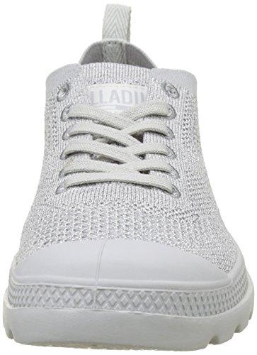 Palladium Pampa Oxford Lite Knit, Sneaker Donna Grigio (Vapor/vapor I70)