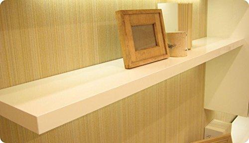 Ve.ca-italy mensole in legno su misura, spessore 4 cm + kit reggimensole a scomparsa - 100% made in italy (lunghezza 60-100 cm profondità 20-40 cm)