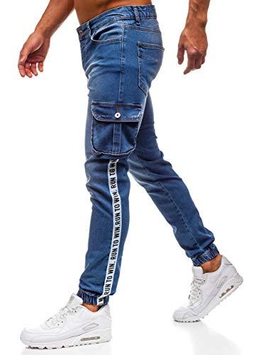 BOLF Herren Jeanshose Baggyhose Denim Destroyed-Jeans Clubwear Sport Style Otantik 2046 Blau 33/34[6F6] | 05902646923031