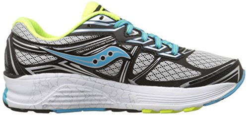 Saucony Guide 9 W, Chaussures de course femme Grey/Blue/Citron
