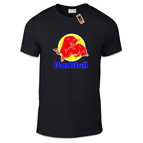 wtf-bad-bull-t-shirt-pour-homme-imprime-coupe-decontractee-differentes-tailles-et-couleurs-noir-xl