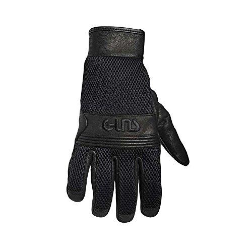 Handschuhe Guns Scaf Mesh Leder black Zulassung CE - Motorrad Handschuhe Indian