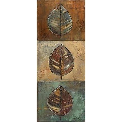 Impresión de Arte Fino en lienzo : New Leaf Panel II - Vertical by Pinto, Patricia - Grande (41 x 102 Cms)