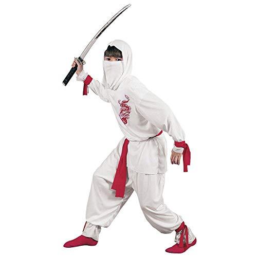 Weißer Ninja Deluxe Kinderkostüm -