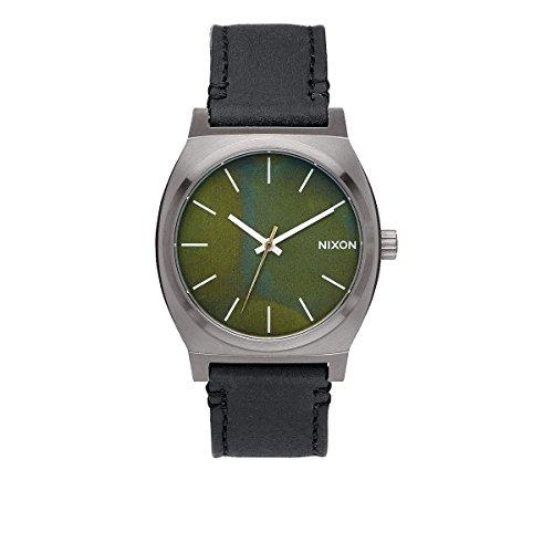 nixon-unisex-armbanduhr-time-teller-analog-quarz-leder-a045-2070-00