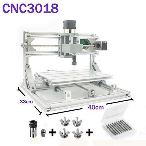 Beautystar CNC DIY Router 3018 GRBL Engraving Machine, Working Area 300*180*45mm, PCB Milling Machine CNC Wood Metal Carving Mini Engraving Router PVC -