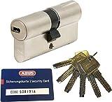 Abus ec660Profil Double cylindre Longueur (A/B) 30/45mm (C = 75mm) avec 6clés, avec carte de sécurité