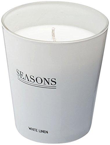 Leinen Duftkerze (Duftkerze Kerze Kerzenhalter Wohndeko Dekoration Weiß Leinen von notrash2003)