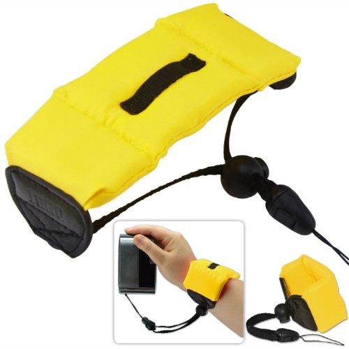 First2savvv gelb Floating Strap Trageriemen Schwimmende Handschlaufe Armschlaufe - wasserdichte Kameras und Unterwasserkam strap für OLYMPUS TG-810 TG-610 TG-310 µ TOUGH-8010 µ TOUGH-6020 µ TOUGH-3000 VR-320 VR-310 VG-130 VG-120