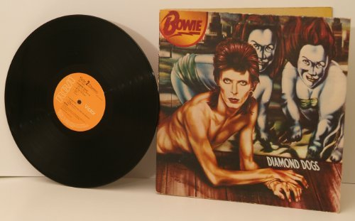 DAVID BOWIE, Diamond dogs. Top copy. First UK pressing. 1974. Handwritten matrix A1 B1.Record label: RCA Victor (Rca Victor Dog)
