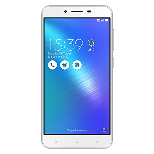 Asus ZenFone 3 Max Dual-SIM Smartphone (14 cm (5,5 Zoll) Full-HD Touch-Display, 32GB Speicher, Android 6.0) silber (Smartphone Asus 6)