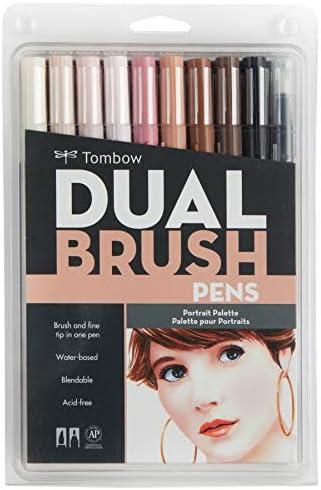 Tombow Dual Dual Dual Brush Pen Set 6 Pkg-Portrait | Attraente e durevole  | Negozio  | Arte Squisita  c96381