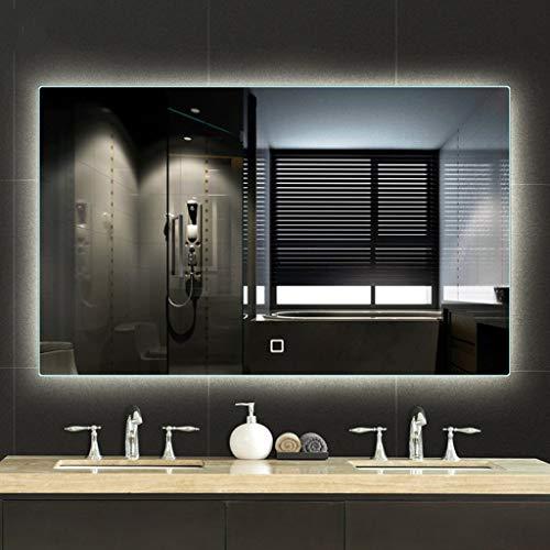 Badezimmerspiegel Beleuchtung LED Anti-Fog Explosionsgeschützt Mit Berührungsschalter Dimmbar Speicherfunktion Anwendbares Schlafzimmer/Hotel/WC (Size : 50x70cm) -
