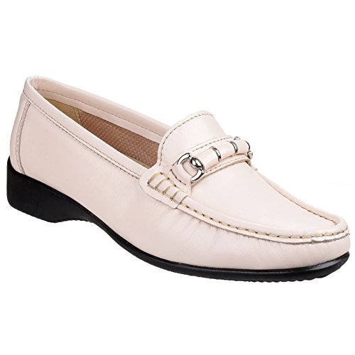 Cotswold Womens/Ladies Barrington Lightweight Slip on Loafer Shoes Cream