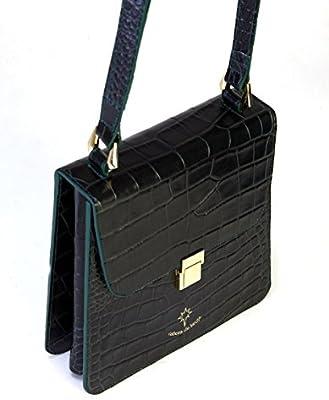 Bolso verde,de mujer,100% piel hecho en Ubrique/Green bag 100% leather handmade in Spain