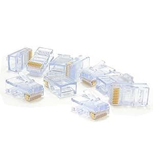 RJ48 Sertir Bouchon 10P10C 10 Broches Fiche Pour Solide Multibrins câble [10 paquet de]