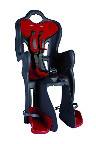 Bellelli 01B1M00002 Seggiolino Bici posteriore B-One Clamp, attacco porta-pacco (portata max 22 Kg), colore Dark Grey