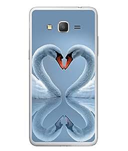 PrintVisa Designer Back Case Cover for Samsung Galaxy J5 (2015) :: Samsung Galaxy J5 Duos (2015 Model) :: Samsung Galaxy J5 J500F :: Samsung Galaxy J5 J500Fn J500G J500Y J500M (Duck Beaks In Cute Heart Shape)