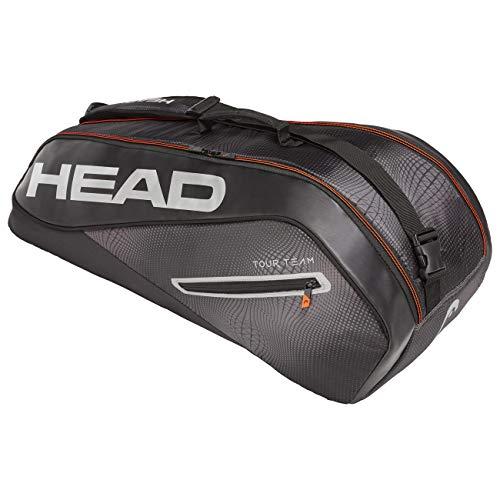 HEAD Unisex- Erwachsene Tour Team 6R Combi Tennistasche, Black/Silver, Einheitsgröße