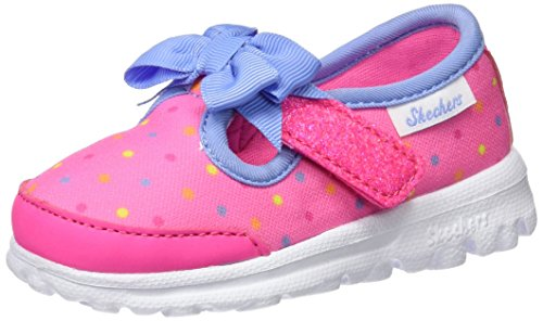 Skechers Go Walk, Sneakers Basses Fille Rose (Npmt)
