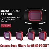 Beisoug Meilleure Montre 2019 Accory pour DJI OSMO Pocket !!! Filtres filtres pour objectifs d'appareil Photo ND4 / PL ND16 / PL ND32 / PL ND64 / PL pour DJI OSMO Pocket