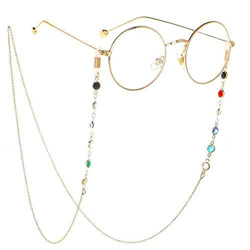 Casue Brillenketten Sonnenbrillen Umhängeband Kordeln Perlen Lesebrille Kette Halter Lanyards Eyewear Retainer Anti-Skid Lesebrille String Holder für Frauen