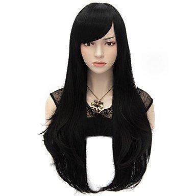 Meylee Perücken HANMGS 70cm Stil natürlich gerade Mode Frauen Party Perücken Hitze widerstehen Synhtetic Cosplay Kostüm Perücke schwarz