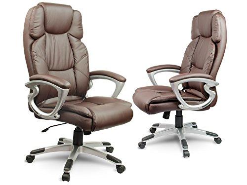 Bürostuhl Chefsessel Drehstuhl Kunstleder - braun Eago EG-227