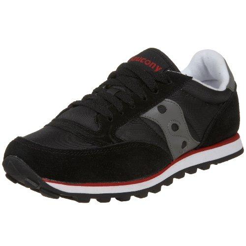 Saucony Originals Women's Jazz Low Pro Sneaker,Black/Dark Gray/Red,12 M US -