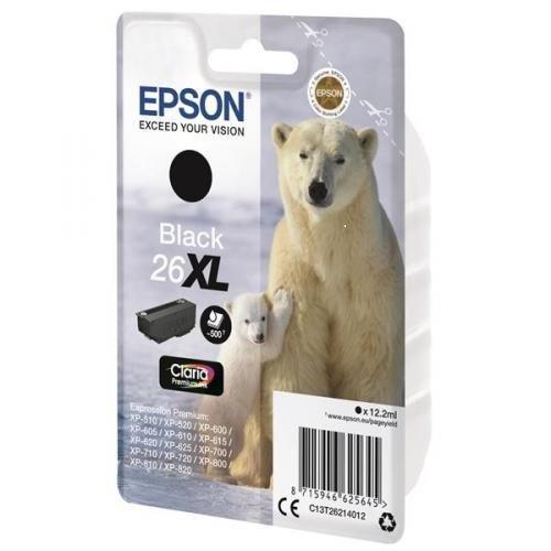 Epson Original T26 Tintenpatrone Eisbär XL, Singlepack schwarz