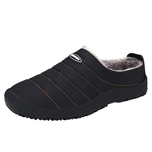 Wahyou pantofole all'aperto uomo donna inverno caldo casual peluche scarpe di cotone comode imbottitura interna e suola spessa antiscivolo scarpe casa interno all'aperto