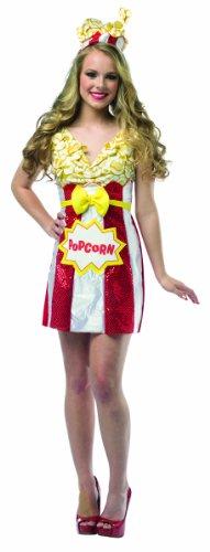 Kostüm Frau Popcorn-Paket (Rasta Frau Kostüm)